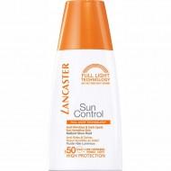 Солнцезащ.флюид Lancaster Sun Control `сияющий загар` для лица против морщин и пигм.пятен для чувств.к солнечному возд-ю кожи. фактор защиты-5: фото