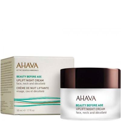 Ночной крем для подтяжки кожи лица, шеи и зоны декольте Ahava Beauty Before Age 50 мл: фото