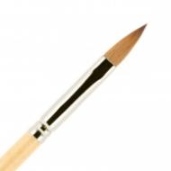 Кисть для ногтей (акрил) ВАЛЕРИ-Д из волоса колонка №7 лепесток в футляре: фото