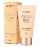 Крем для шеи антивозрастной с золотом PETITFEE Advanced gold neck cream 50г