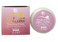 Питательный крем с улиткой JUNO Sangtumeori stem cell clinic nourishing cream snail 100 мл: фото
