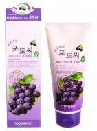 Пенка для умывания с экстрактом виноградных косточек FoodaHolic Grapestone Keratin Scaling Foam Cleansing 180мл: фото