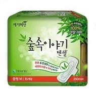 Прокладки гигиенические с эвкалиптом YEJIMIN Tencel sanitary pad medium 16шт средние: фото