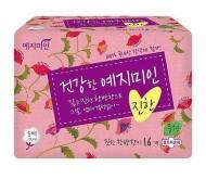Прокладки гигиенические Натуральный хлопок YEJIMIN Rich herb cotton sanitary pads medium 16шт средние: фото