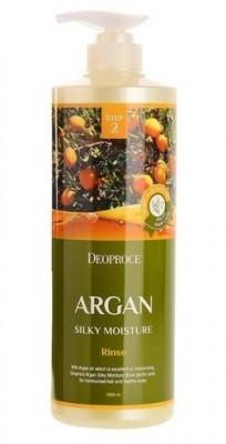 Бальзам с аргановым маслом DEOPROCE Rinse argan silky moisture 1000мл: фото