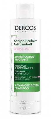 Шампунь-уход от перхоти для чувствительной кожи головы VICHY Dercos Anti-Dandruff Sensitive 200мл: фото