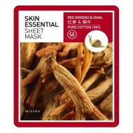 Маска тканевая с женьшенем и муцином улитки MISSHA Skin Essential Sheet Mask (Ginseng & Snail): фото