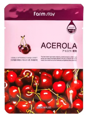 Маска с экстрактом ацеролы FarmStay Visible Difference Mask Sheet Acerola 23мл: фото