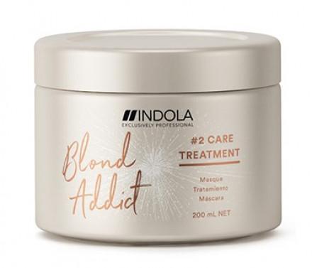 Маска для окрашенных и обесцвеченных волос Indola Blond Addict Masque #2 Care Treatment 200мл: фото