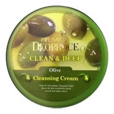 Крем для лица очищающий с экстрактом оливы DEOPROCE PREMIUM CLEAN & DEEP OLIVE CLEANSING CREAM 300g: фото