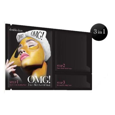 Трехкомпонентный комплекс масок ЖИДКОЕ ЗОЛОТО Double Dare OMG! 3in1 Kit Peel Off Mask: фото