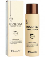Тонер для лица с экстрактом улитки SECRET SKIN SNAIL+EGF PERFECT TONER 150мл: фото