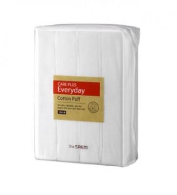 Спонжи косметические из 100% хлопка THE SAEM Care Plus Everyday Cotton Puff 1200шт: фото