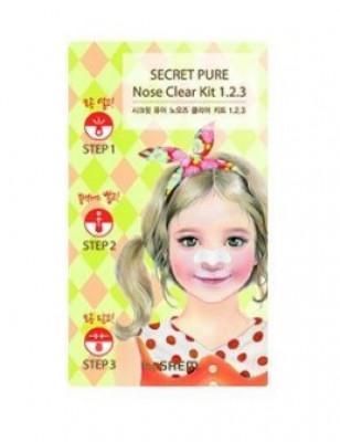 Пластырь для удаления черных точек THE SAEM Secret Pure Nose Clear Kit 1-2-3 6г: фото