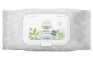 Салфетки очищающие с экстрактом белого чая THE SAEM Healing Tea Garden WhiteTea Cleansing Tissue 60шт: фото