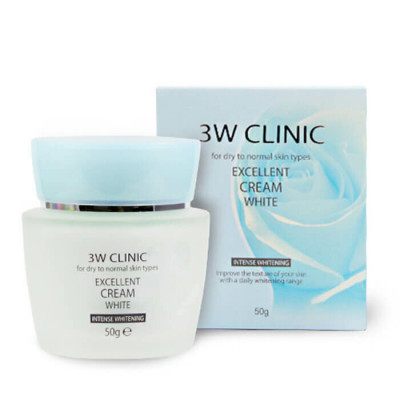 Крем для лица осветляющий 3W CLINIC Excellent White Cream: фото