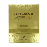 Гидрогелевая маска для лица с золотом 3W CLINIC Collagen & Luxury Gold Energy Hydrogel Facial Mask: фото