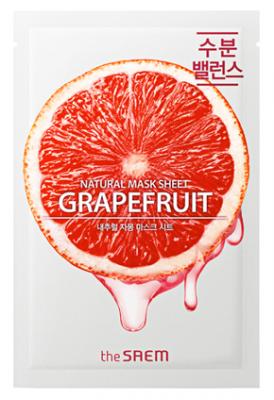 Маска тканевая с экстрактом грейпфрута THE SAEM Natural Grapefruit Mask Sheet 21мл: фото