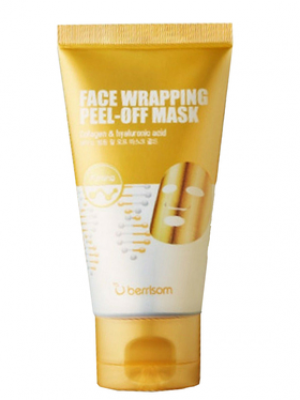 Маска-пленка для лица Berrisom Face Wrapping peel off pack Gold 50мл: фото