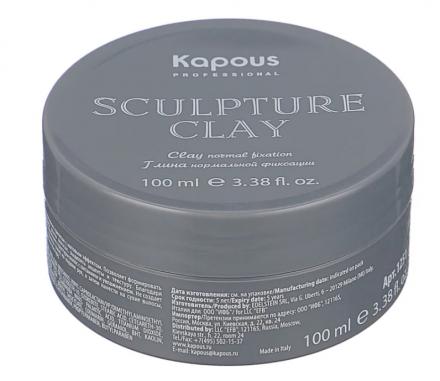 Глина для укладки волос нормальной фиксации Kapous Sculpture Clay 100 мл: фото