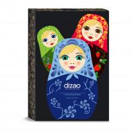 Набор масок для лица, шеи и век подарочный DIZAO Три красотки