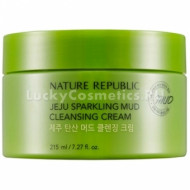 Крем для лица очищающий NATURE REPUBLIC Jeju Sparkling Mud Cleansing Cream 215 мл: фото