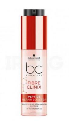 Бустер с пептидами для поврежденных волос Schwarzkopf professional Bonacure Fibre Clinix 45мл: фото