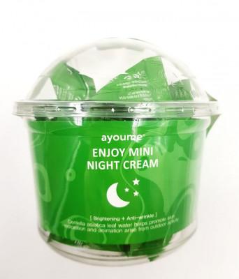 Крем для лица ночной с центеллой AYOUME ENJOY MINI NIGHT CREAM 3г*30шт: фото