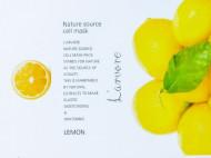 Тканевая маска с экстрактом лимона L'arvore Nature Source Cell Mask Lemon 25 г: фото