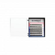 Ресницы Bombini Черные, 6 линий, изгиб D+ - mini-MIX (9-11) 0.07: фото