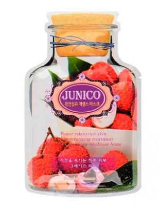 Маска тканевая c экстрактом личи Junico Lychee Essence Mask 25г: фото
