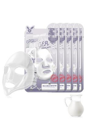 НАБОР Тканевых масок с Молоком Elizavecca MILK DEEP POWER Ringer mask pack 23мл*10шт: фото