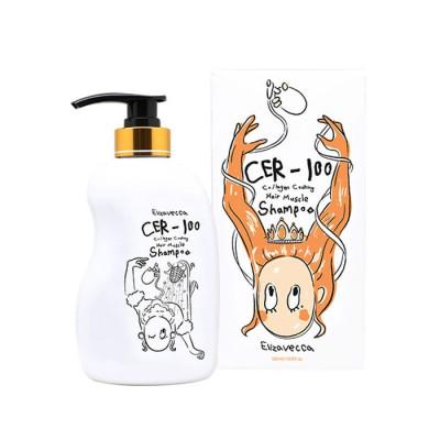 Шампунь для волос с коллагеном Elizavecca CER-100 Collagen Coating Hair Muscle Shampoo: фото