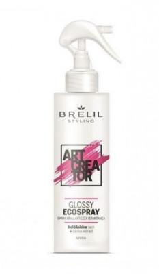 Эко-спрей для придания сияющего блеска Brelil ART CREATOR GLOSSY ECOSPRAY 150 мл: фото