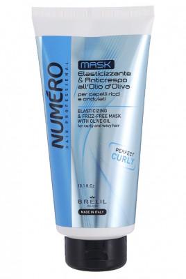Маска с оливковым маслом для вьющихся и волнистых волос Brelil Numero Elasticizing & frizz-free 300 мл: фото
