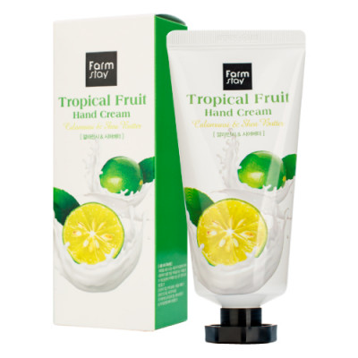Крем для рук с экстратом каламанси и маслом ши FarmStay Tropical Fruit Hand Cream Calamansi & Shea Butter 50 мл: фото