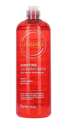 Мицеллярная вода с керамидами FarmStay Ceramide Purifying Cleansing Water 500мл: фото