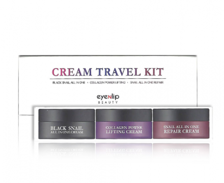 Набор кремов Cream Travel Kit (black snail, collagen, snail) 15мл*3шт: фото