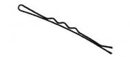 Невидимки волнистые Sibel 5см черные 24шт: фото