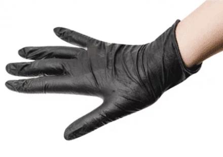 Перчатки одноразовые латексные Sibel Black&Pro Размер М, черные 20шт: фото