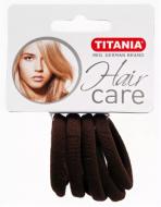 Резинки для волос Titania 4см коричневые 6шт: фото