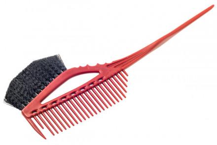 Кисточка для окрашивания с расчёской Y.S.Park YS-640 красная: фото