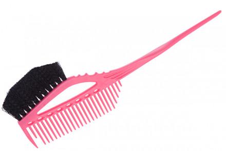Кисточка для окрашивания с расчёской Y.S.Park YS-640 розовый: фото
