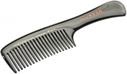 Расчёска каучуковая с ручкой с редкими зубчиками HERCULES 703W 18,2см: фото