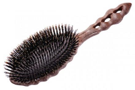 Щетка для волос c натуральной щетиной Y.S.PARK Beetle Styler коричневая: фото